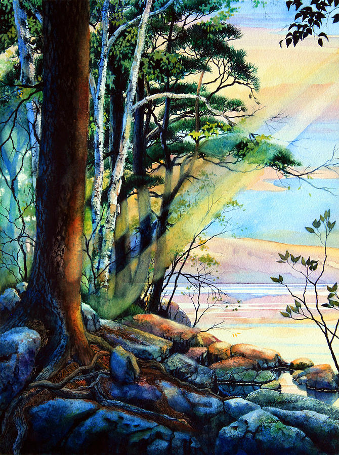Fantasy Island Art Painting - Fantasy Island by Hanne Lore Koehler
