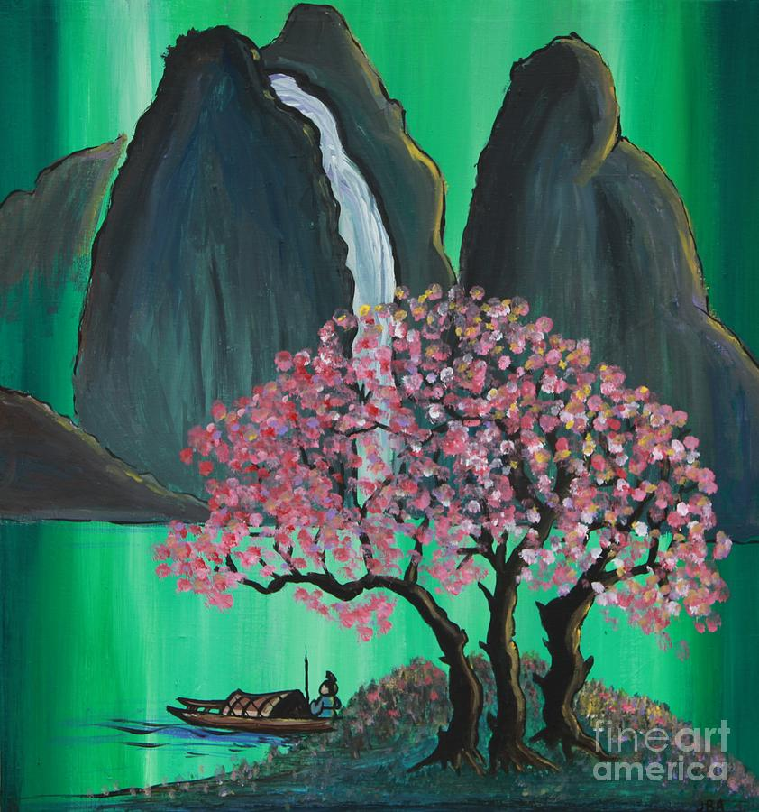 Japan Painting - Fantasy Japan by Jacqueline Athmann