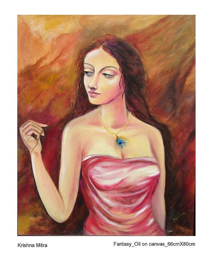 Contemporary Painting - Fantasy by Krishna Mitra