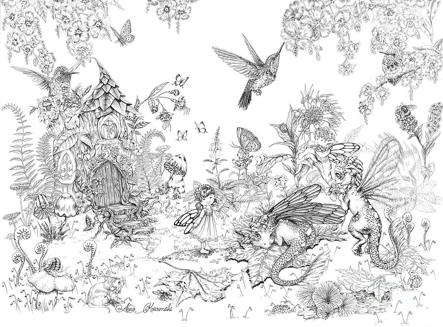 Fairy Drawing - Fantasy Land by Anne Koivumaki - Fine Art Anne