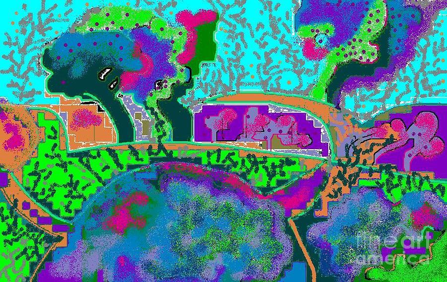 Landscape Digital Art - Fantasy Landscape by Beebe  Barksdale-Bruner