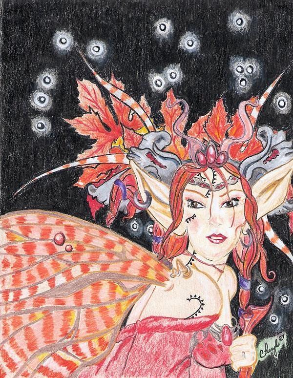 Fantasy Drawing - Fantasy Nights by Cheryl Shibley