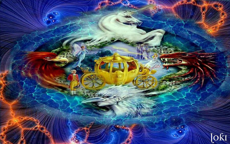 Fantasy Digital Art - Fantasy Realm by Loki Gwyn