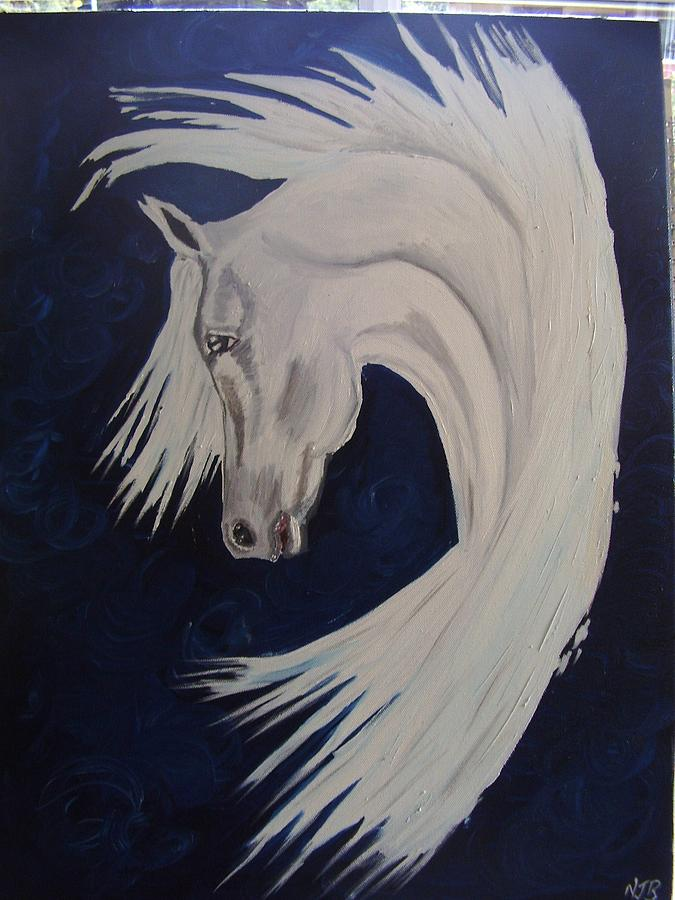 Equine Painting - Fantasy Stallion by Naomi Bowman
