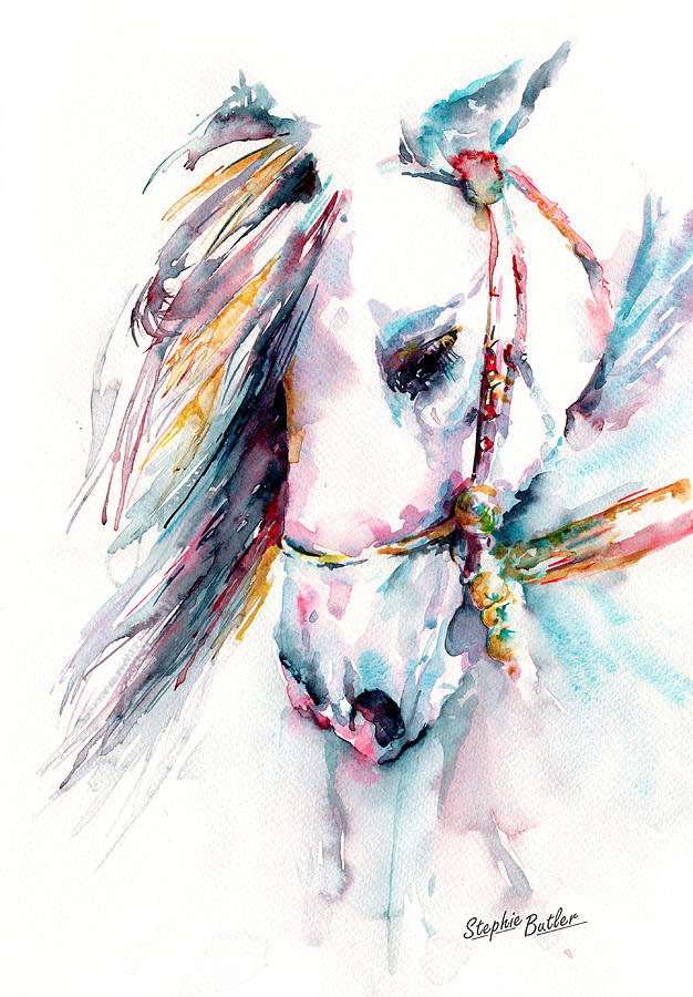 Watercolour Painting - Fantasy by Stephie Butler