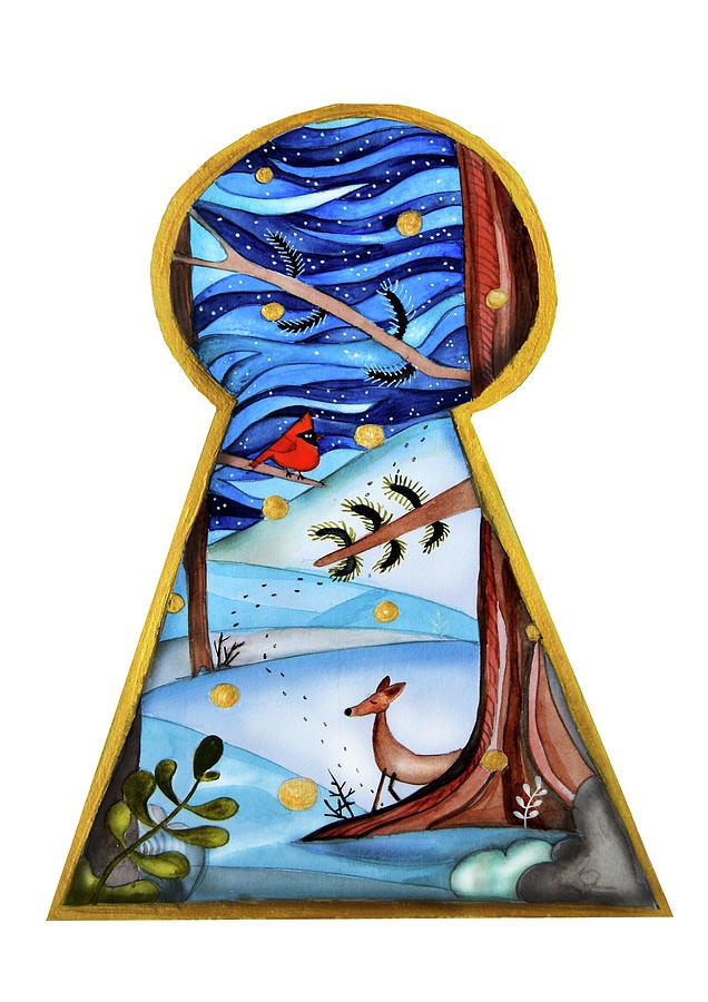 Fantasy Painting - Fantasy Through The Keylock by Carina Panculescu
