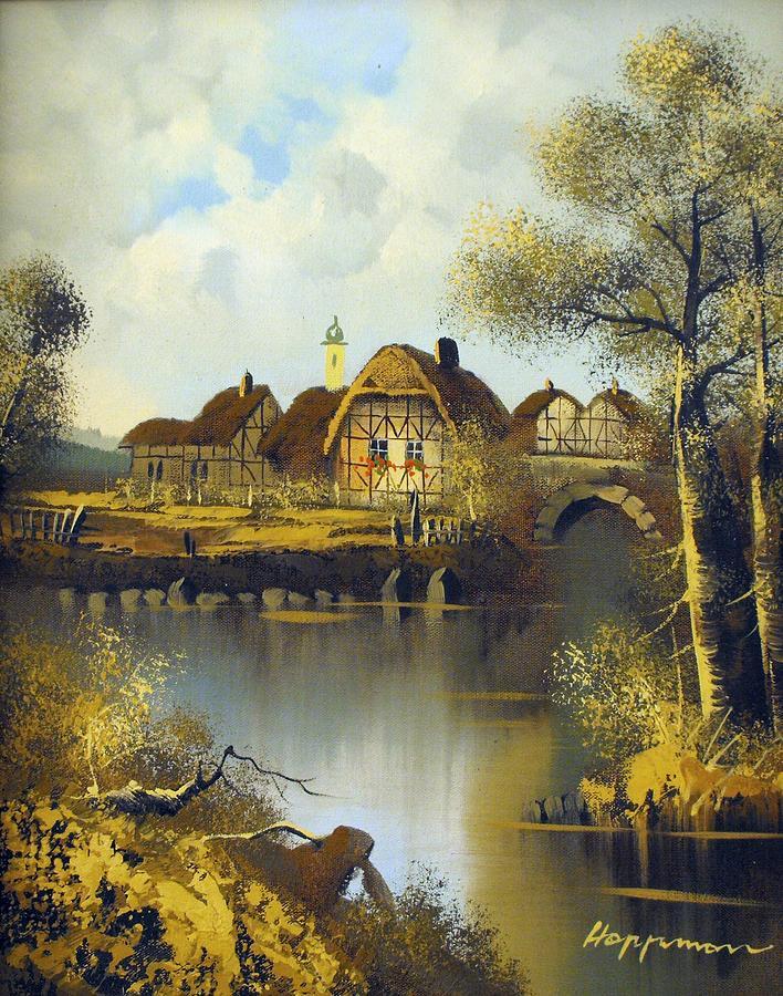 Fantasy Village Painting By Hoppman