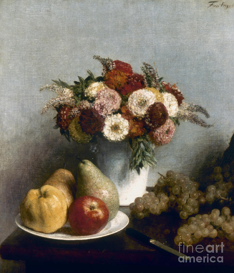 1865 Photograph - Fantin-latour: Fruits, 1865 by Granger