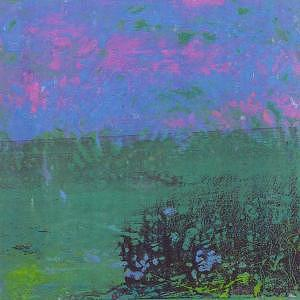 Landscape Mixed Media - Far  Horizon by Billie J  Sullivan