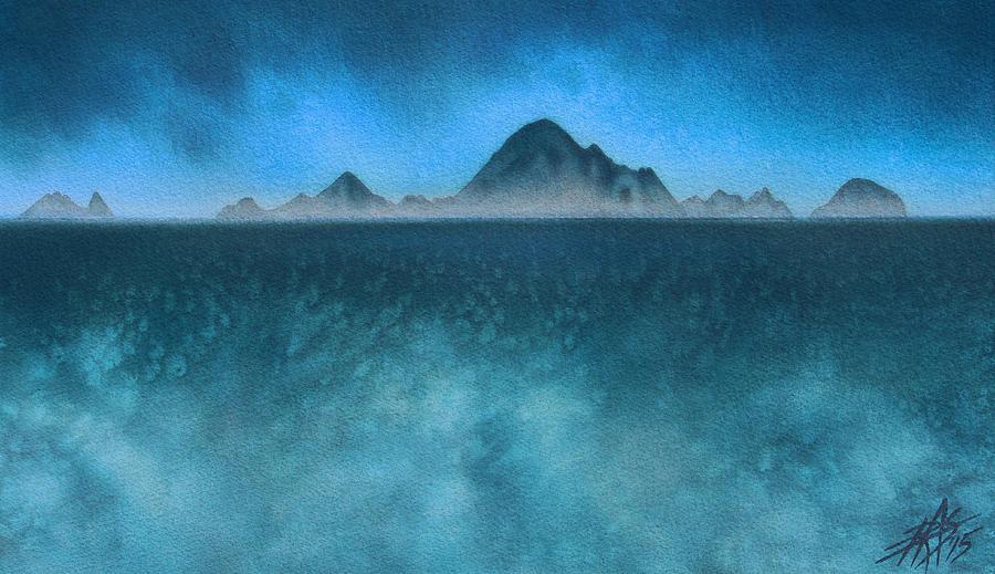 Farallon Islands Painting - Farallon Islands II or The Misty Isle by Robin Street-Morris