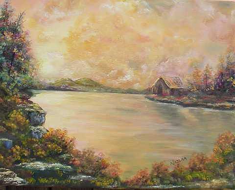 Faraway Painting by Najlaa Mahmoud