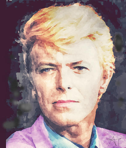 David Painting - Farewell David Bowie by Ana Tirolese
