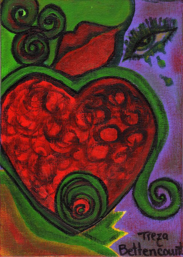 Heart Painting - Farewell by Treza Bettencourt