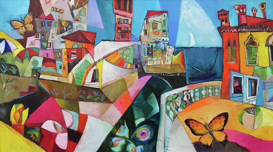 Bengez Painting - Farfalle Sul Mare by Miljenko Bengez