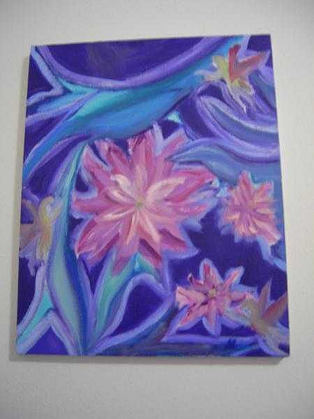 Farie Flowers Painting by Rob T