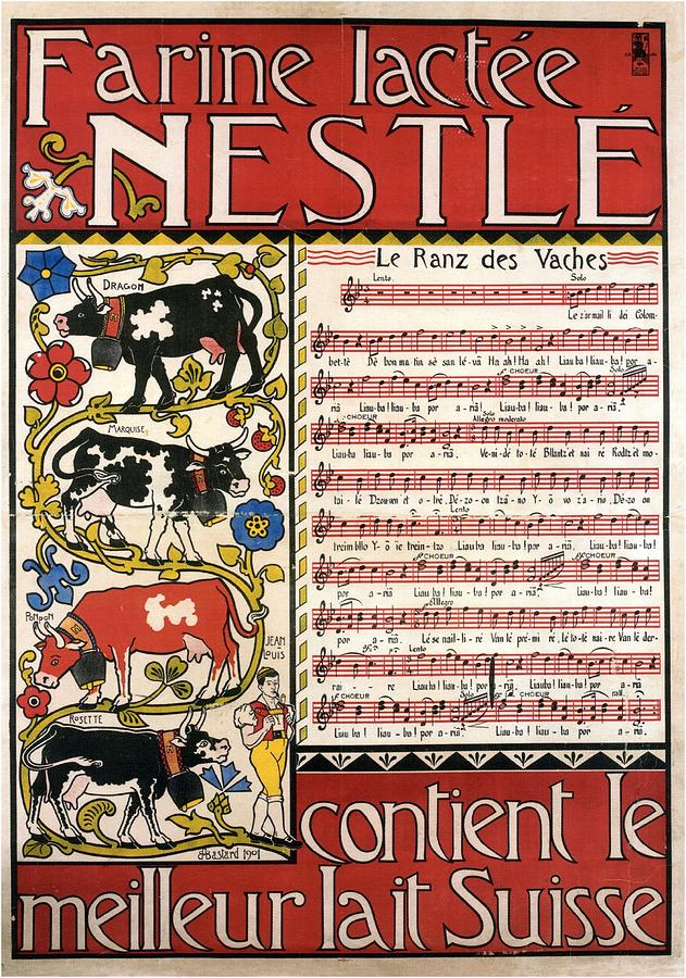 Nestle Mixed Media - Farine Lactee Nestle - Contient Le Meilleur Lait Suisse - Vintage Advertising Poster by Studio Grafiikka