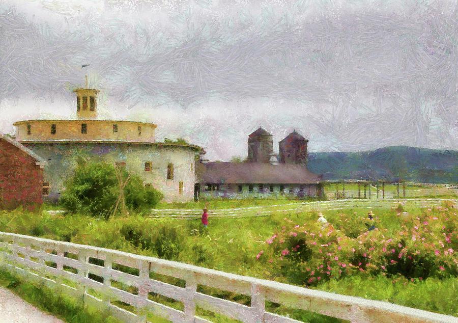 Framed Photograph - Farm - Barn - Farming Is Hard Work by Mike Savad