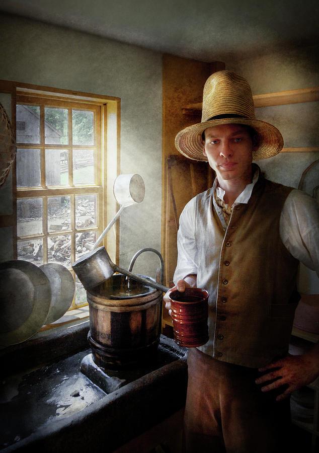 Hdr Photograph - Farm - Farmer - The Farmer by Mike Savad