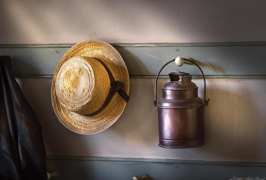 Savad Photograph - Farm - Tool - The Coat Rack by Mike Savad