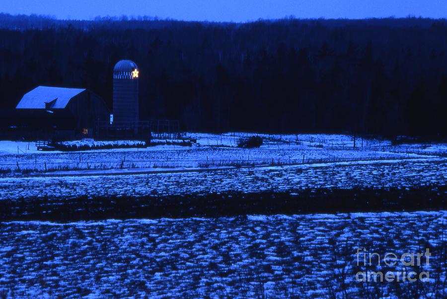 Barn Photograph - Farm At Christmas by Timothy Johnson