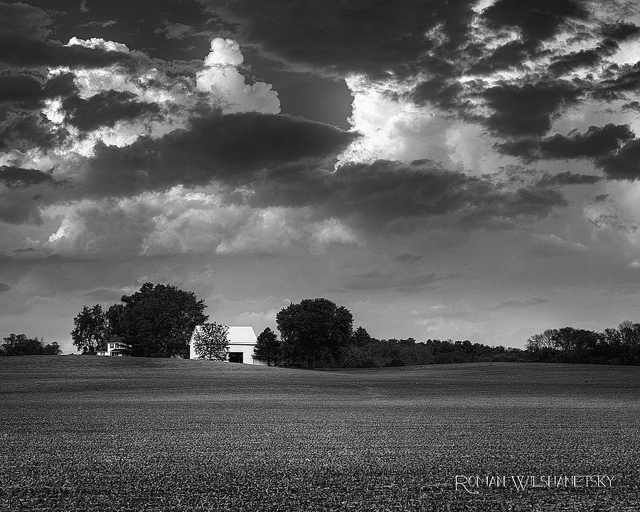 Farm before the storm by Roman Wilshanetsky