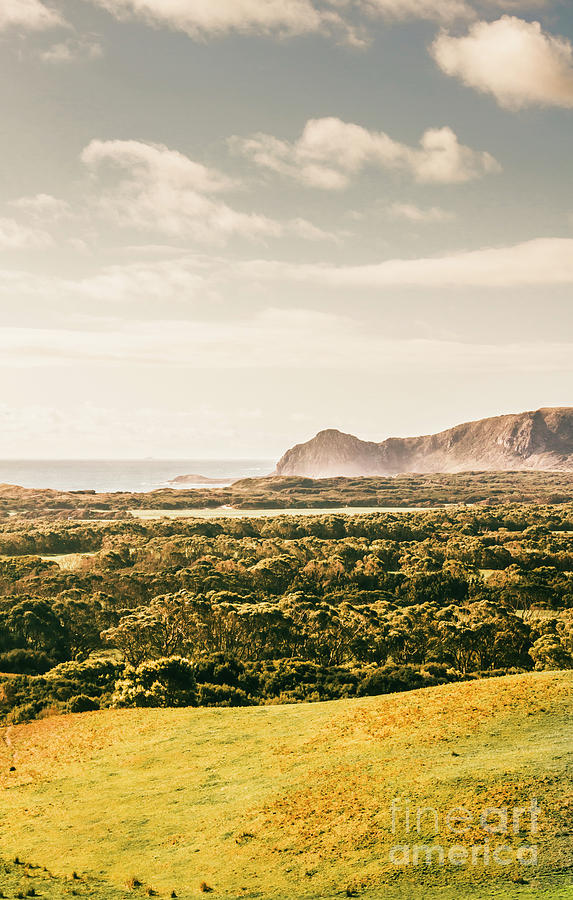 Australia Photograph - Farm Fields To Seaside Shores by Jorgo Photography - Wall Art Gallery