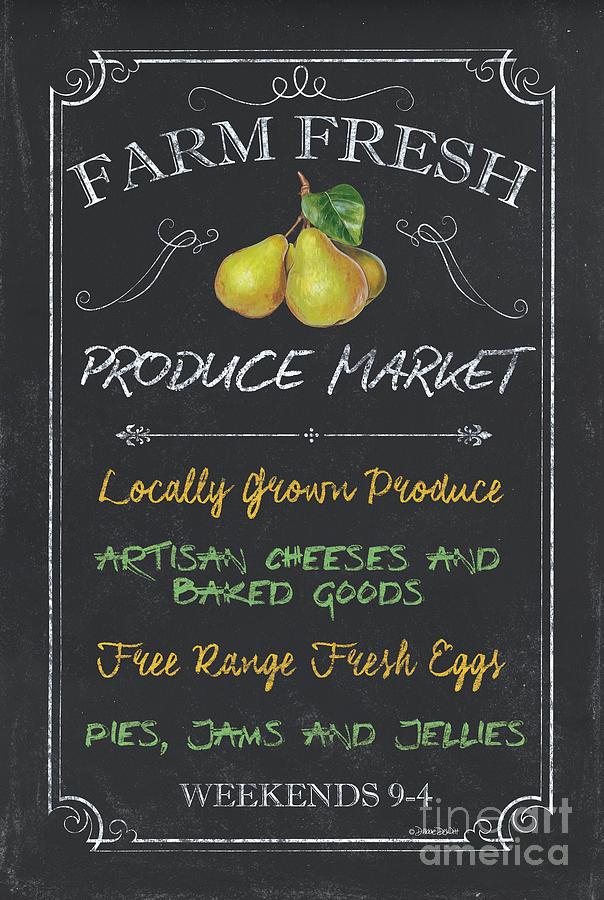 Farm Painting - Farm Fresh Produce by Debbie DeWitt
