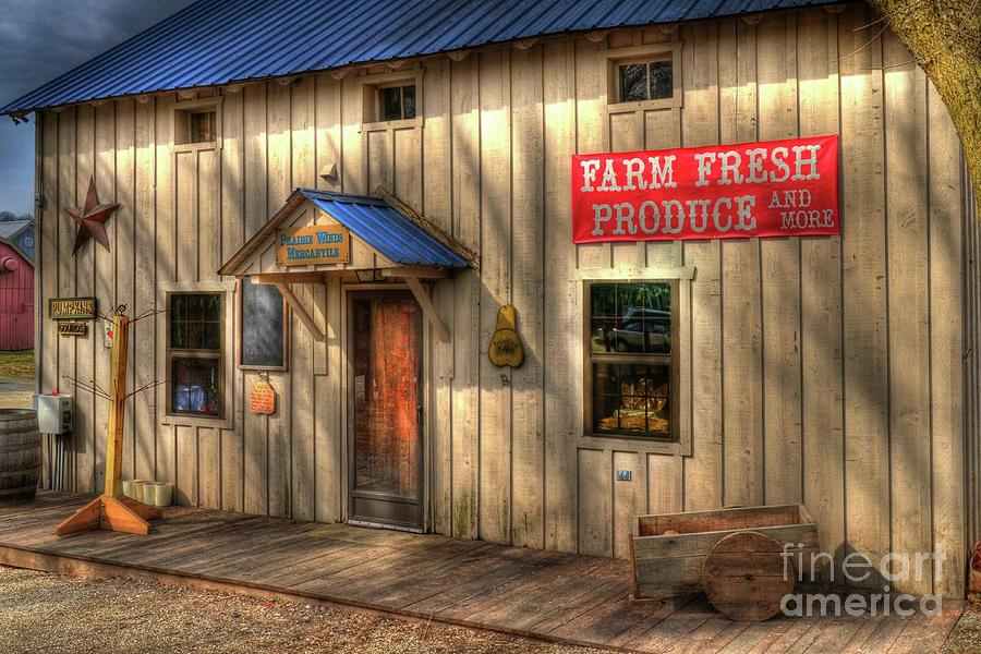 Metamora Indiana Photograph - Farm Fresh Produce by Mel Steinhauer