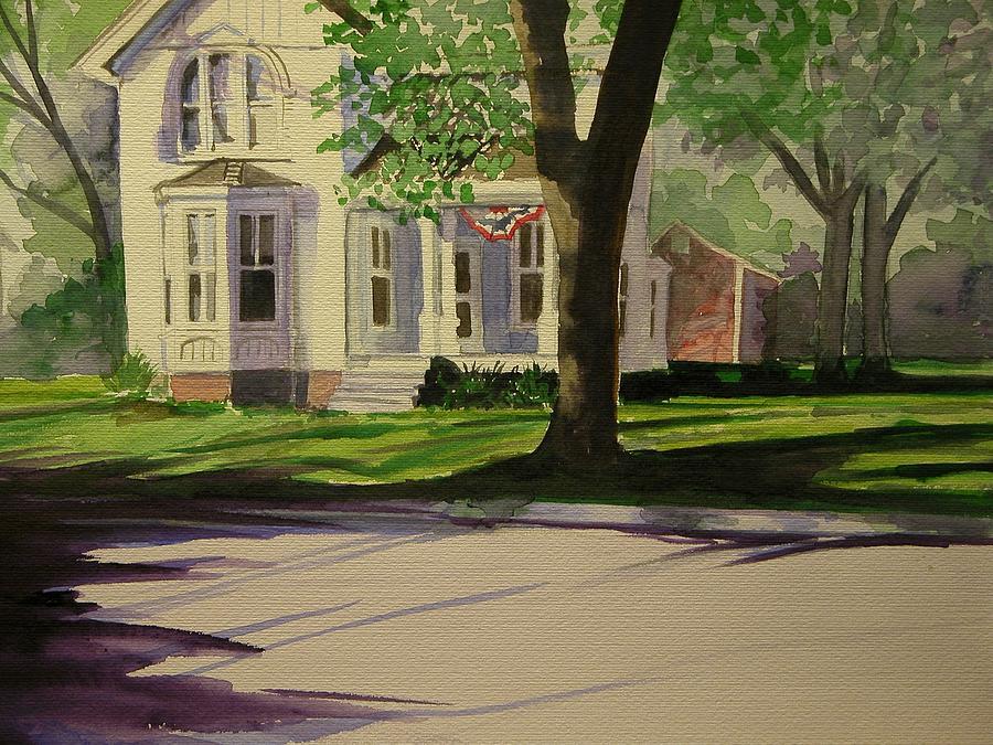 Farm House Painting - Farm House In The City by Walt Maes