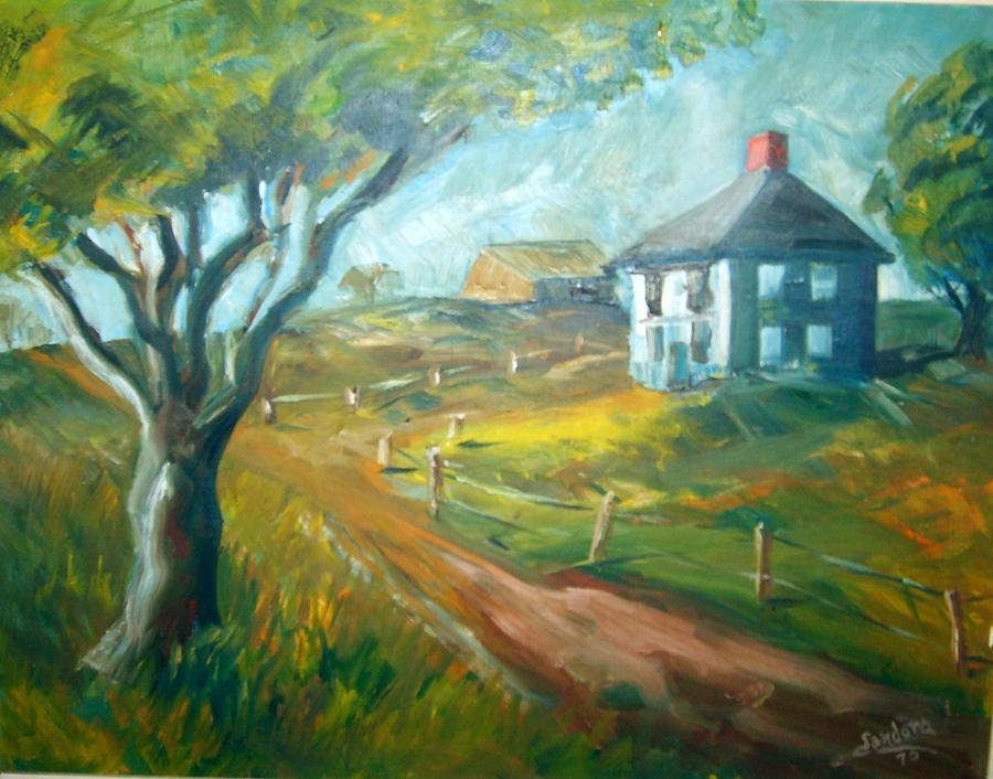 Farm In Gorham Painting by Joseph Sandora Jr