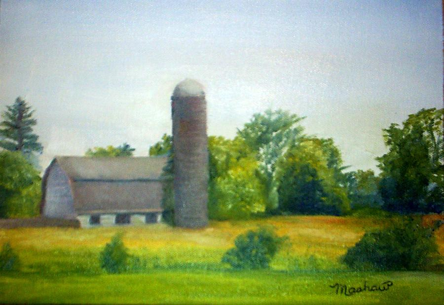 Farm Painting - Farm In The Pine Barrens  by Sheila Mashaw