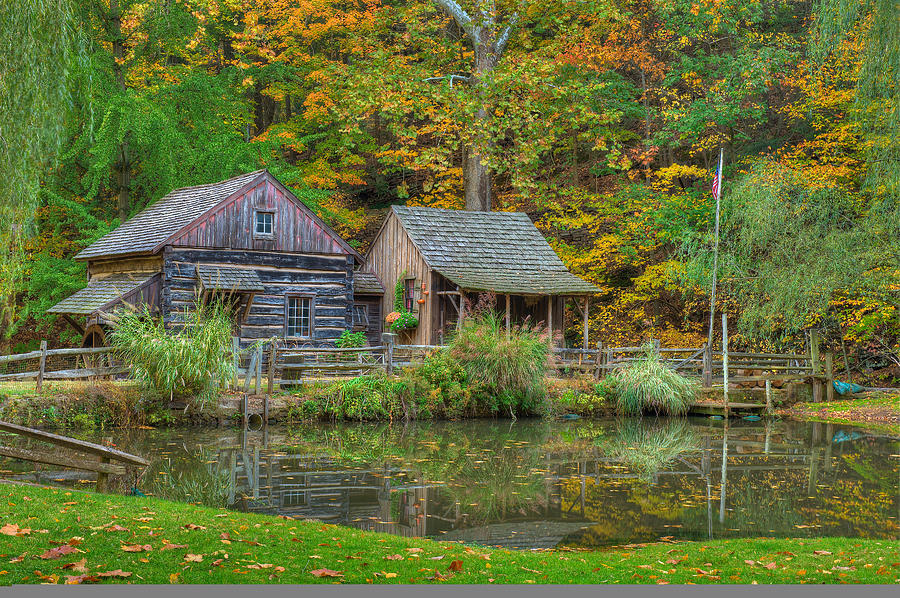 Farm Photograph - Farm In Woods by William Jobes