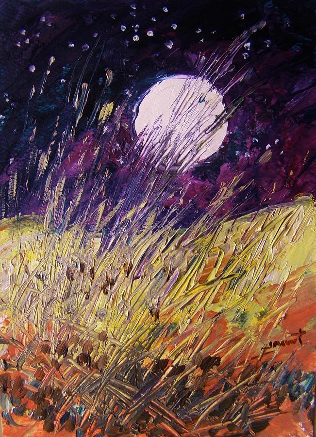 Moon Painting - Farm Moon by John Williams