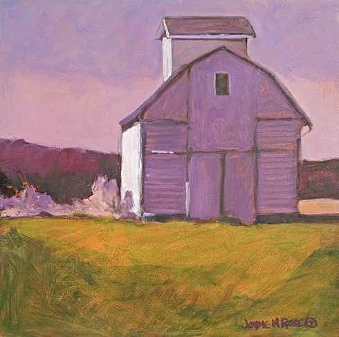 Farm Painting - Farm On Cedar Street -- Sold by Jayne Rose