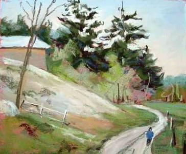 Farm Path Painting by Barbara Elmslie