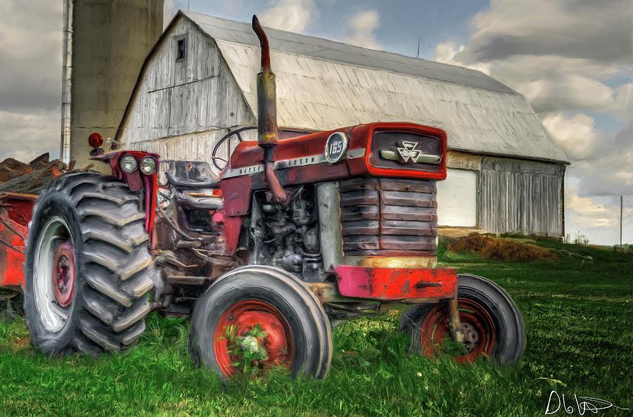 Canada Photograph - Farm Scene - Painting by Garvin Hunter