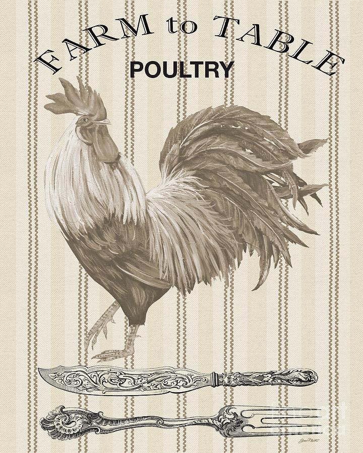 Poultry Digital Art - Farm To Table-jp2110 by Jean Plout