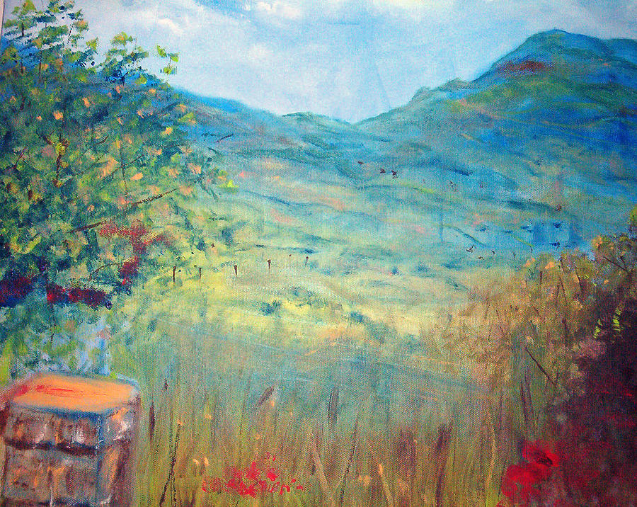 Landscape Painting - Farm View Near Davis Mountains by Richalyn Marquez