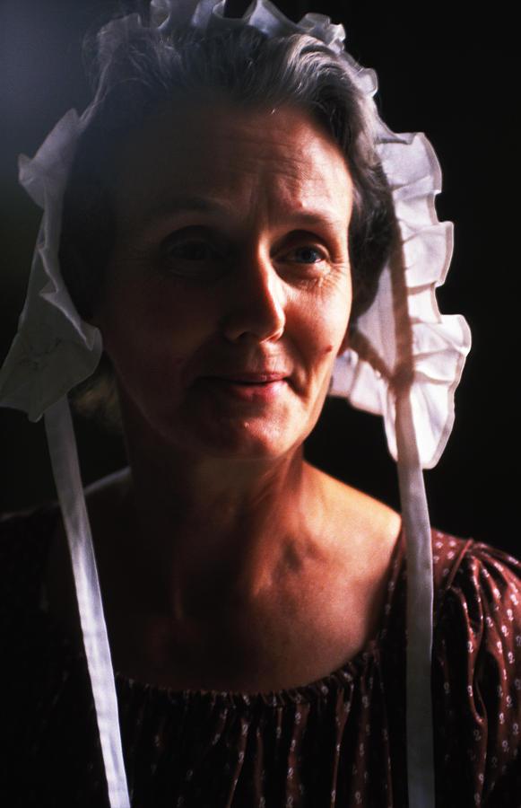 Woman Photograph - Farm Woman In Bonnet by Carl Purcell