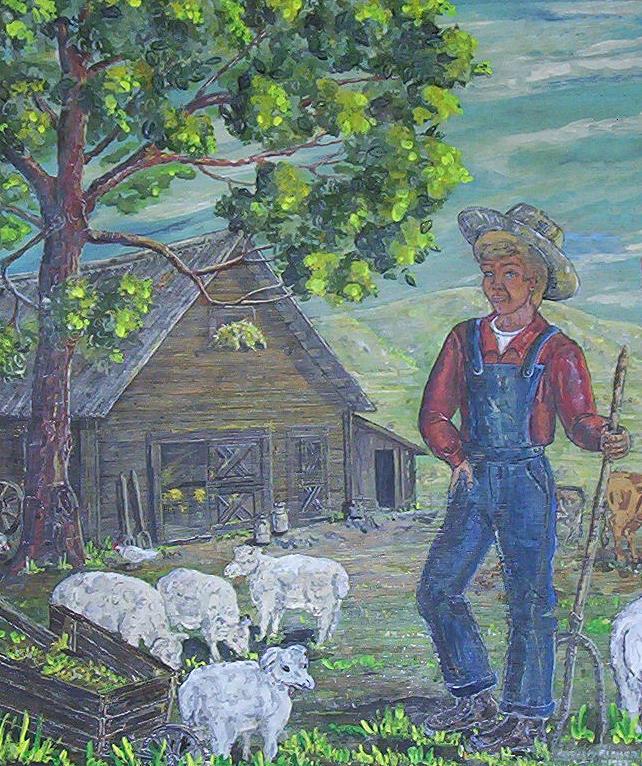 Barn Painting - Farm Work II by Phyllis Mae Richardson Fisher