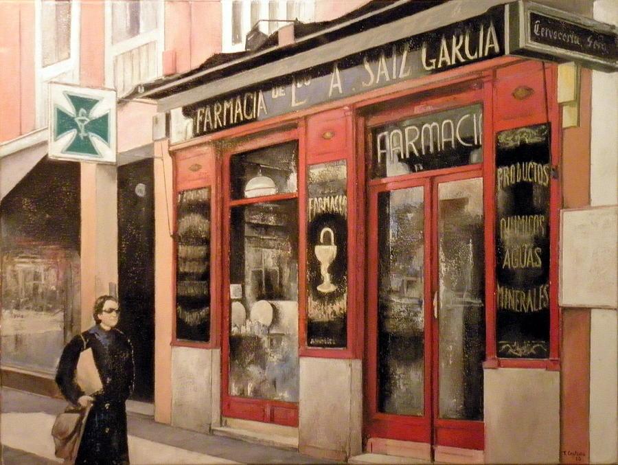 Farmacia Painting - Farmacia Saiz Garcia by Tomas Castano