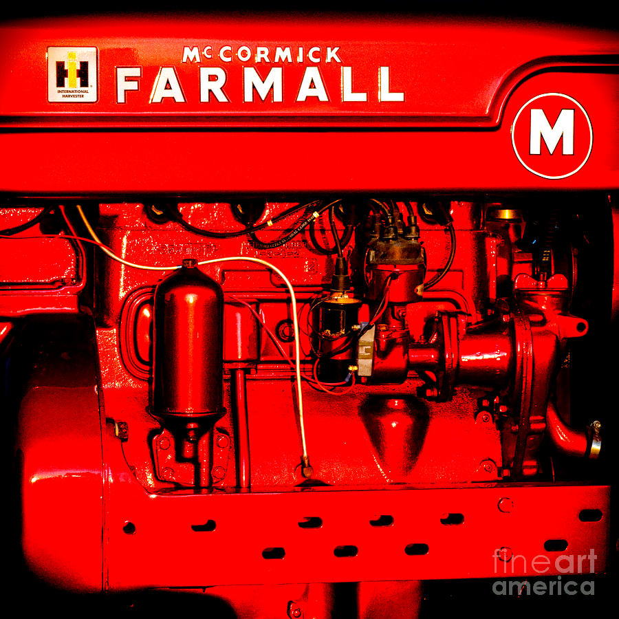 International Photograph - Farmall Engine Detail by Olivier Le Queinec