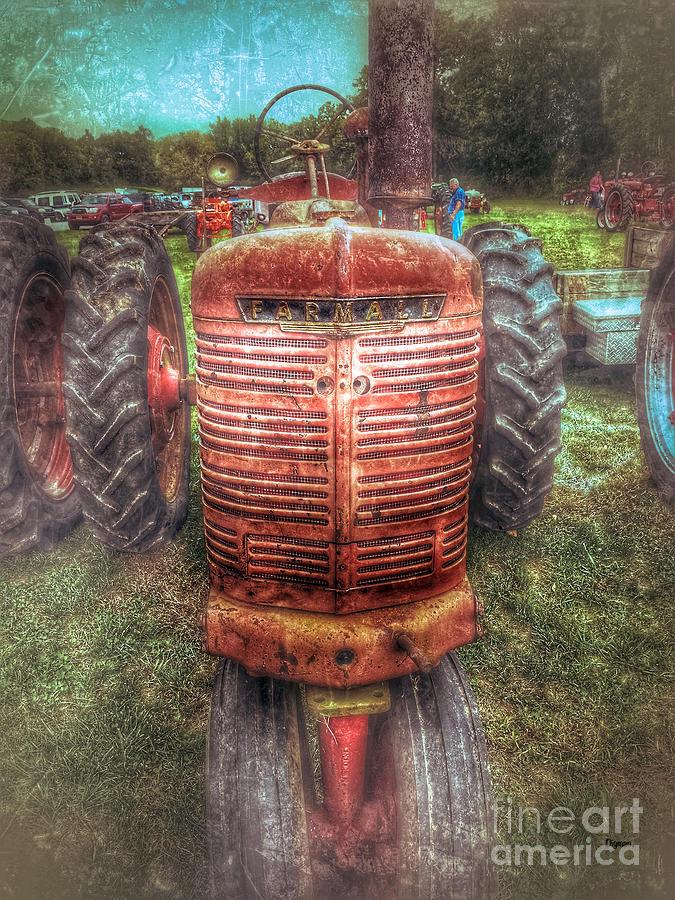 Tractors Photograph - Farmall  by Steven Digman