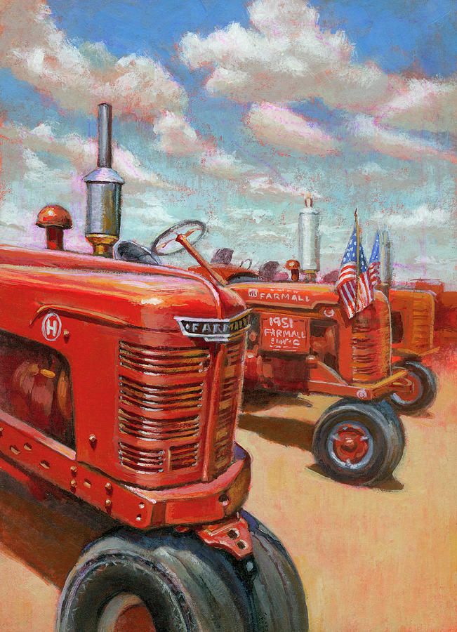 Farmall Tractor by Lesley Spanos