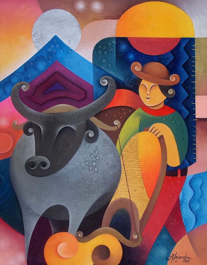 Filipino Painting - Farmer by Hermel Alejandre
