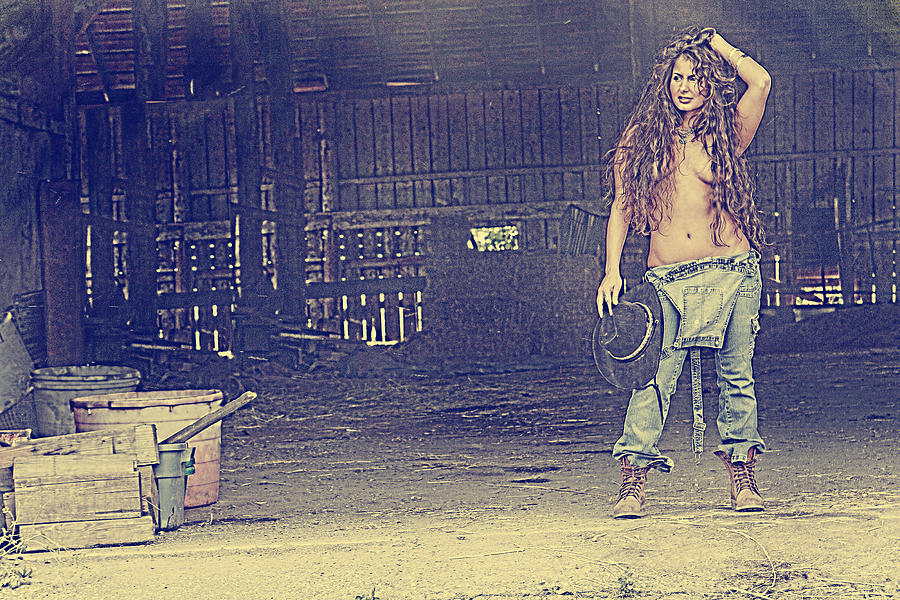 People Photograph - Farmers Daughter by Naman Imagery