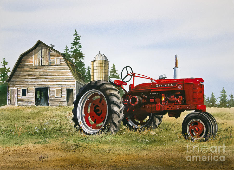 International Tractor Painting : Farmers heritage painting by james williamson