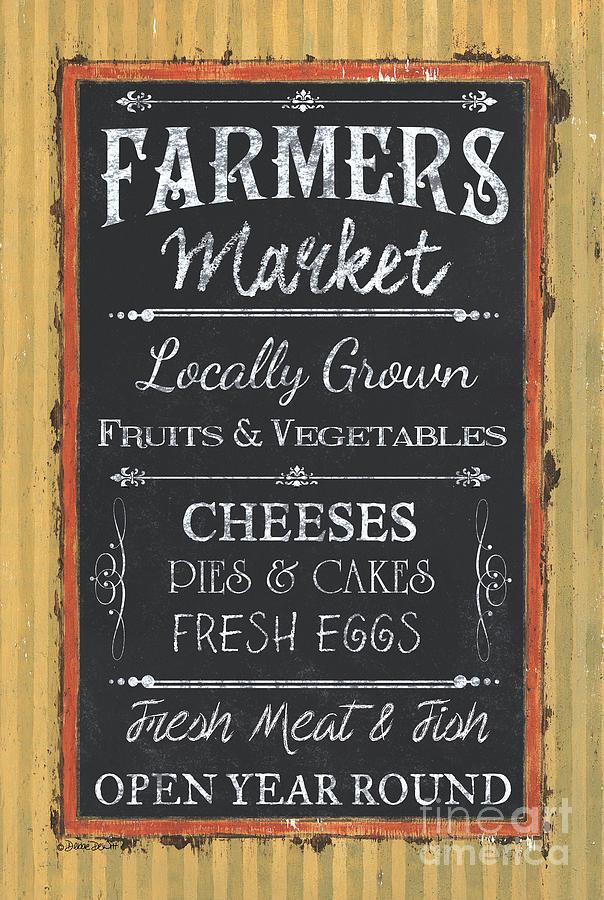 Farm Painting - Farmers Market Signs by Debbie DeWitt