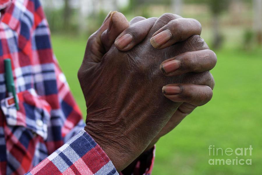 Hands Photograph - Farmers Prayer by Joy Tudor
