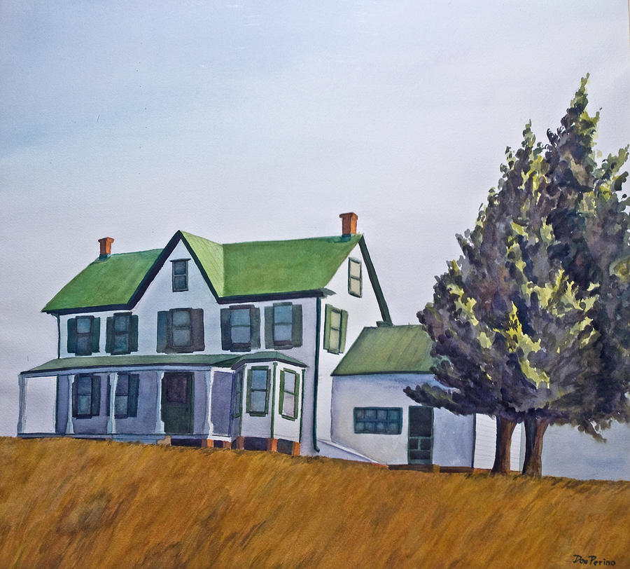 Farmhouse Painting by Don Perino